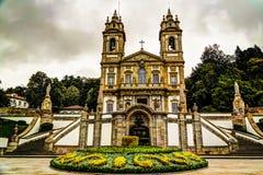 De buitenmening aan Santuario do Bom Jesus doet Monte, Braga, Portugal royalty-vrije stock foto's