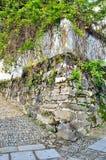 De buitenmuren van oud stock foto