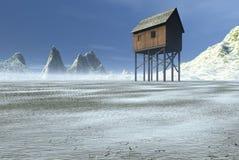 De Buitenpost van de winter Royalty-vrije Stock Foto