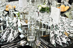 De buitensporige reeks van de dinerlijst Stock Afbeelding