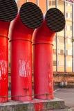 De buizen van de afzet airconditioning Royalty-vrije Stock Foto