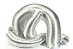 De buizen van de aluminiumlucht Stock Foto's