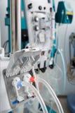 De buizen van hemodialysebloodline in dialysemachine Royalty-vrije Stock Foto