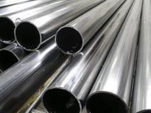 De buizen van het aluminium Stock Foto