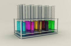De buizen van het laboratorium Stock Afbeeldingen