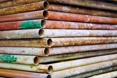 De buizen van het staal Stock Foto's