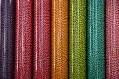 De buizen van het suikergoed stock foto