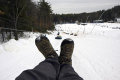 De buizenlift van de sneeuw Stock Afbeelding