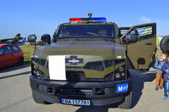 De Bulgaarse Luchtmacht toont dit ons is Stock Foto's