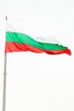 De Bulgaarse vlag bovenop Tsaravets-vesting Royalty-vrije Stock Afbeelding