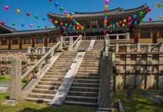 De Bulguksatempel is één van de beroemdste Boeddhistische tempels in al Royalty-vrije Stock Afbeeldingen
