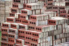 De bulk Bakstenen van de Bouw Stock Afbeeldingen