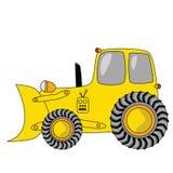 De bulldozer van het beeldverhaal vector illustratie