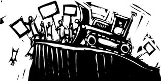 De Bulldozer van het protest vector illustratie