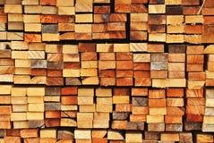 De bundel van cutted hout Royalty-vrije Stock Foto's