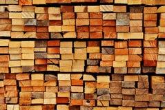 De bundel van cutted hout Stock Fotografie