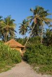 De bungalow van het strand Stock Foto