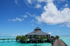 De bungalowwen van het water Royalty-vrije Stock Foto