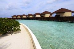 De bungalowwen van het water Stock Afbeelding