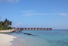 De Bungalowwen van Overwater in de Maldiven Royalty-vrije Stock Afbeeldingen
