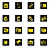 De bureau icônes simplement Photographie stock