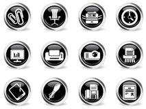 De bureau icônes simplement Images libres de droits