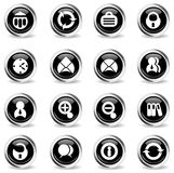 De bureau icônes simplement Photos libres de droits