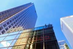 De bureaubouw in Canary Wharf Stock Foto