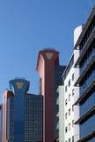 De bureaubouw in het centrum van Lissabon Stock Afbeeldingen