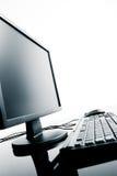 De bureaucomputer van  Stock Foto's