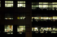 De Bureaus van de nacht Royalty-vrije Stock Fotografie