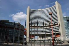 De bureaus van de Verenigde Naties in Wenen stock afbeelding