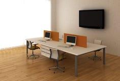 De bureaus van het systeem binnen het bureau Stock Foto's