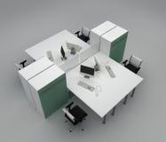De bureaus van het systeem met verdelingen Stock Fotografie