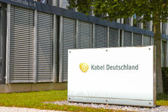 De bureaus van Kabeldeutschland in Unterföhring Stock Afbeeldingen