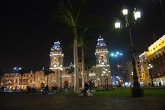 De Burgemeester van het plein - Lima, Peru Stock Foto