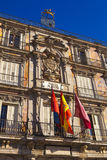 De Burgemeester van het plein in Madrid Stock Fotografie