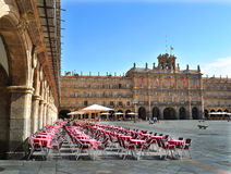De burgemeester van het Plein in Salamanca Stock Fotografie