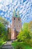 De burgerlijk-militaire parochie van Heilige Maagdelijke Mary Queen van Polen en Heilige Aartsengels Michal, Rafal en Gabriel royalty-vrije stock fotografie