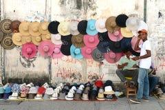 De burgers op de straten van Cartagena Stock Afbeeldingen