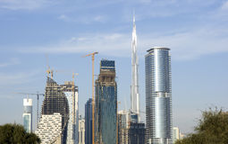 De Burj de khalifa burj Dubaï maintenant Image libre de droits