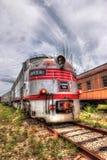 De Burlington da cabeça trem de estrada de ferro locomotivo de Goldcoast sobre - fotografia de stock royalty free