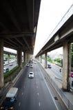 De bus eind 1st FL van Bangkok Gevestigd bij de hoek van 1st FL phutthamonthon Sai 1 weg Royalty-vrije Stock Afbeeldingen