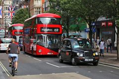 De bus en de taxi van Londen royalty-vrije stock foto's