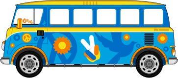 De Bus van de beeldverhaalhippie vector illustratie
