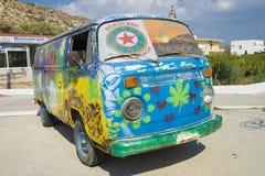 De bus van de hippie stock foto