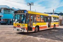 De bus van de Kumanolijn in Wakayama, Japan royalty-vrije stock afbeelding