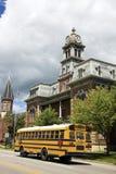 De bus van de school in Medina Royalty-vrije Stock Foto