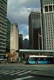 De Bus van de Stad van New York Stock Afbeeldingen