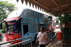 De bus van de stadsreis Stock Foto